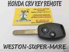 FITS Honda CRV 2 Botones Control Remoto Clave + Nueva Sin cortar clave N/S Bristol