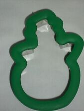 Wilton Comfort Grip Snoman Cookie Cutter Holiday Green Baking Winter Christmas