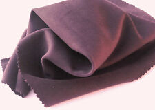 C14 FINE PLAIN VELVET  COTTON SOFT TOUCH DARK CLARET WITH BLACK LINED REVERSE
