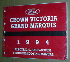 1994 FORD CROWN VICTORIA GRAND MARQUIS ELECTRICAL VACUUM TROUBLES EVTM MANUAL