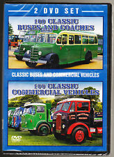 100 BUSES & COACHES / 100 COMMERCIAL VEHICLES - NEW & SEALED - 2 DISC DVD SET