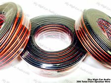 100' feet EACH 10 12 & 16 Gauge AWG RED/BK 300' Speaker Wire Car Home Audio