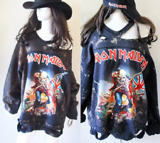 Iron Maiden Bleached Distressed Destroyed sweatshirts S-XL