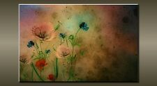 """LARGE FLOWER VINTAGE CANVAS WALL PICTURE FLASH ART 30"""" 20"""" 0459"""