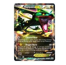 RAYQUAZA EX 85/124 Ultra Rare Pokemon Holo Card! Dragons Exalted!