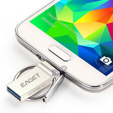 EAGET V90 16GB USB 3.0 Metal Waterproof Micro OTG Flash Drive Android Smartphone