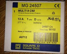 SQUARE D MERLIN GERIN MG24507 MULTI 9 C60 D13A 1 POLE CIRCUIT BREAKER #1643A60