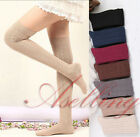 Girl Women Cable Knit Over Knee Winter Socks Thigh-Highs Hose Stockings S417