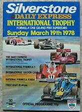 SILVERSTONE 19 Mar 1978 INTL TROPHY FORMULA ONE F1 Races A4 Official Programme
