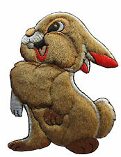 "#3902   4-1/4"" Embroidery Iron On Cartoon Rabbit Applique Patch"