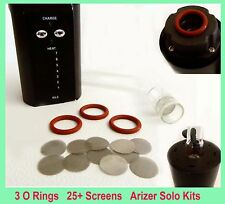 Arizer Solo Screens Pack 3 Pieces O Ring & 25 Screens Keep Your Tube Stem Clean