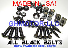 NEW 04 05 CBR 1000RR ALL BLACK COMPLETE FAIRING BOLTS SCREWS FASTENERS KIT USA