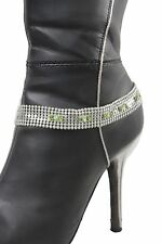 Women Silver Mesh Metal Chains Boot Bracelet Anklet Shoe Butterfly Bling Jewelry