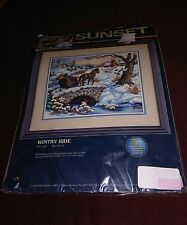 Sunset Stamped Cross Stitch Kit - Wintry Ride - Unopened