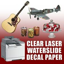 * Waterslide Decal Paper, Clear For Laser Printer toner copier 20 Sheets