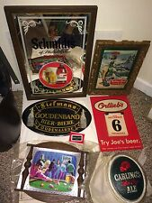 Vintage Ortlieb's,Schmidt's,Rolling Rock,Liefmans,Red Cap,Black Label Beer Signs