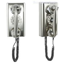 Vintage Wall Phone Rotary Dial Antique Telephone Novelty Working Classic Cord