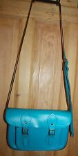 Authentic CAMBRIDGE SATCHEL Company Bright Blue Cross Body Bag - 11 Inches
