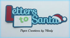 Craftecafe Mindy Christmas Santa letters title Premade Paper Piecing scrapbook