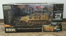 D-DAY COMMEMORATIVE SERIES FORCES OF VALOR 1:32 GERMAN HALF TRACK & SOLDERS SET