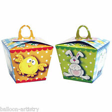 6 Happy Easter Party Cheeky Chick Bunny Eggs Cupcake Treat Boxes