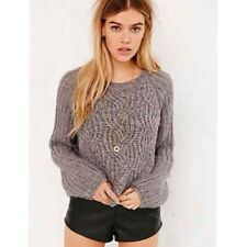 Urban Outfitters Kimchi Blue Gray Metallic Bella Pullover Sweater Sz L Nwot