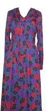 Giovannozzi VINTAGE 80'S ITALIANO DESIGNER STAMPA Slinky day Dress modellare dettaglio 12