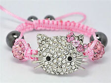 Beautiful Children Jewellery Kids Shamballa Bracelet 10MM Crystal Beads gift