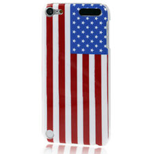 Schutzhülle f Apple iPod Touch 5 5G Cover Case Tasche Amerika USA Flagge