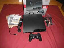 Sony PS3 PlayStation 3 Slim 320 GB Console (CECH-3001B) & One Controller Bundle
