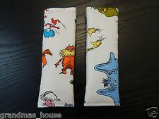 Child Seat Belt Strap Covers Car Highchair Pram Stroller - Dr Seuss Characters