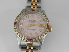 Ladies Rolex Datejust 69173 With Diamond Face and Bezel.