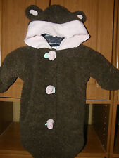 CUTE Baby Girl Bear Bunting 1 Size Fits All, BASS PRO SHOP, Brown w/Pink Rose