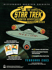 STAR TREK ANIMATED ADVENTURES PROMOTIONAL SELL SHEET