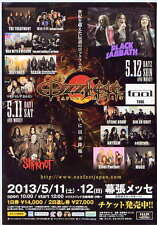 Ozzfest Japan 2013 Concert Flyer BLK ver Black Sabbath Slipknot Dir en Grey Tool