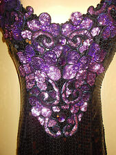 Evening Dress 6 Womens S Beaded Sequined Purple Ball Gown Dance Alyce 4g7