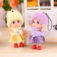 Cute Kids Toys Soft Interactive Baby Dolls Toy Mini Doll For Keychain Gift /