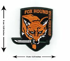 Metal Gear Solid Fox Hound Special Force - Iron on or Sew on Badge Patch