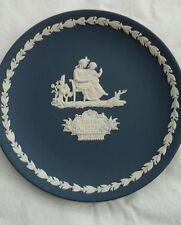 wedgewood jasperware vintage 1975 dark blue mothers day plate