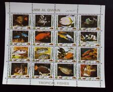 Umm Al Qiwain 1972 Tropical Fishes Minisheet   CTO