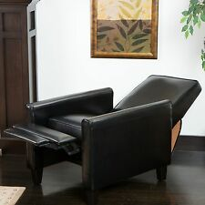 Christopher Knight Home Darvis Black Bonded Leather Recliner Club Chair