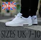 Nike AIR MAX 1 ESSENTIAL Men's White Leather Trainers UK 7-10 Shoes / UK SELLER