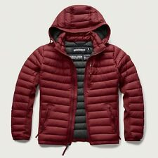 NWT Abercrombie & Fitch Mens Dark Red Lightweight Hooded Down Puffer Jacket ~ L
