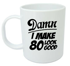 Damn 80 Mug, 80th Birthday gifts, presents, gift ideas for men, 80 year old