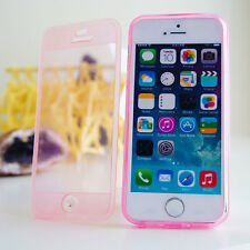 TPU Silicone Gel Flip Cover Bumper Clear Case For iPhone 4 4S 5 5S 5C 6 6S Plus