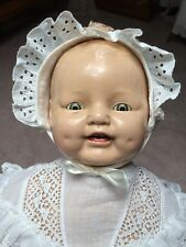 Composition  Dimples Tin Eye Baby doll   22inch  EIH  Horsman 1920's