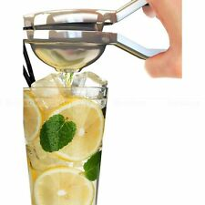 Stainless Fruit Juicer Lemon Lime Orange Squeezer Manual Hand Press Bar Tool NEW