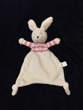 Jellycat Bredita Bunny Blanket Pink Comforter Soother Stripe Plush Doudou Knot