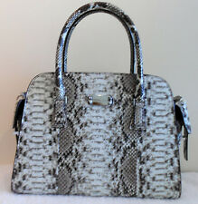 MICHAEL KORS NEW Gia Satchel Python Auth Black White Leather Bag Handbag Purse