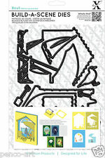 Xcut A5 Shadow Box Build a Scene die set sea side Seaside beach boat deck chair